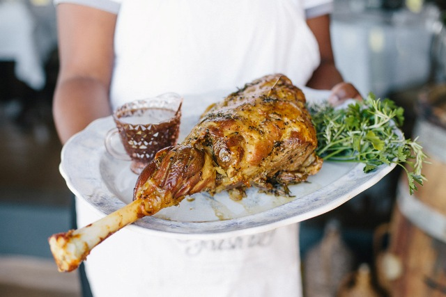 Gabriëlskloof Sharing Sundays roast leg of lamb. Photo Random Hat PR. Photographer Tasha Seccombe
