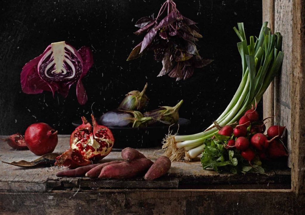 Still life from Winter Menu at Hemelhuijs styled by Jacques Erasmus. Photo Mickey Hoyle