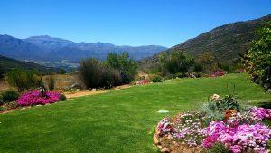 The gardens at Piekenierskloof Mountain Resort