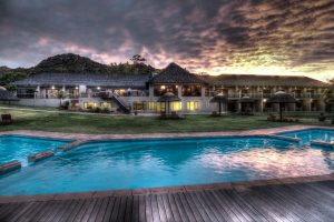 Piekenierskloof Mountain Resort garden and pool