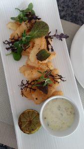 Light and crispy salt and pepper calamari, Botany Cafe, The President Hotel