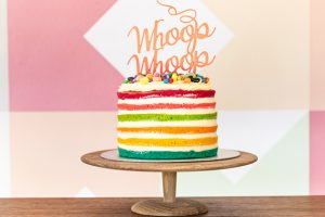 Velvet Cake Co famous rainbow naked cake
